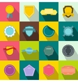 Badges icons set flat style vector image