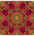 Ornament on a burgundy background vector image