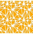 Abstract orange shapes on white seamless pattern vector image