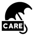 Care Umbrella Flat Icon vector image