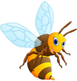 Happy carton bee vector image
