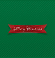 merry christmas bent red ribbon vector image