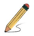 pencil writing utensil wood sketch vector image