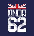 Print for T-shirts English flag London vector image
