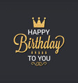 birthday card logo design background vector image