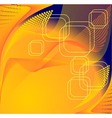 Abstract background in orange dark blue colors vector image vector image