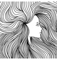 girl with long beautiful hair vector image