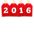 2016 on Red Tags vector image