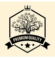 Premium Quality badge or label for Olive Oil vector image