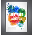 Colorful Background with Watercolor Effect vector image