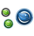 leaf emblems vector image vector image