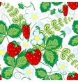 Seamless pattern with strawberries Perfect for vector image