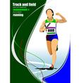 al 1112 Track and field 02 vector image