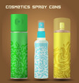 cosmetic spray cans vector image