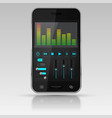 digital equalizer on smartphone screen vector image