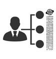 distribution manager icon with job bonus vector image