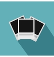 Photo frames icon flat style vector image