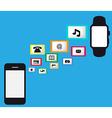 Smart watch smart phone vector image