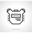 Sport digital stopwatch simple line icon vector image