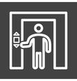 Using Elevator vector image