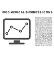 Trend Monitoring Icon with 1000 Medical Business vector image