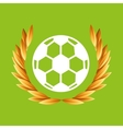 soccer sport olympic blue badge vector image