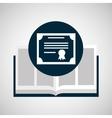 education opened book certificate graduation vector image