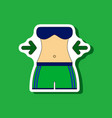 paper sticker on stylish background woman body vector image