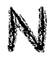 N Brushed vector image