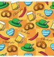seamless pattern on Oktoberfest vector image