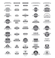 Set of labels and stickers vector image vector image