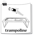 Man jumping on trampoline vector image