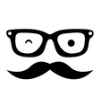 mustache and glasses hipster style isolated icon vector image