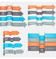 Arrows infographics set vector image