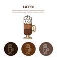 glass of hot latte macchiato coffee close up vector image