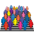 men and women on stairs vector image