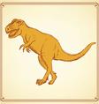 Sketch t-rex dinosaur in vintage style vector image