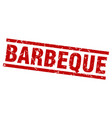 square grunge red barbeque stamp vector image