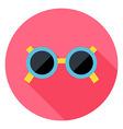 Sun Glasses Circle Icon vector image