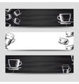 Coffee and tea horizontal banners vector image