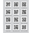 QR codes with congratulations vector image