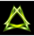 green triangle shape vector image vector image