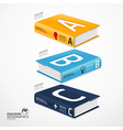 books infographic vector image