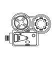 film projector icon image vector image