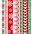 Christmas design border vector image