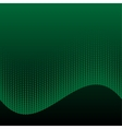 Abstract halftone green and black background vector image vector image