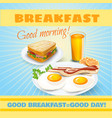 Breakfast classical poster vector image