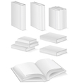 set of books with hardcover vector image vector image
