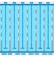 Swimming Pool Top View Flat Pictogram vector image