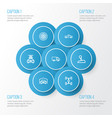 Automobile outline icons set collection of vector image